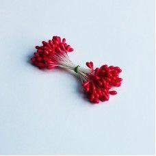 Декоративные тычинки красные