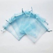 Мешочек из органзы небесно голубой 7х9 см