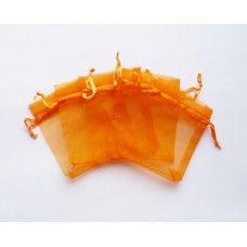 Мешочек из органзы оранжевый 7х9 см