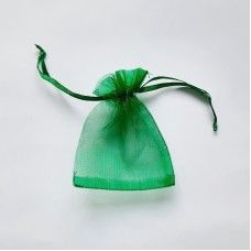 Мешочек из органзы зеленый 7х9 см