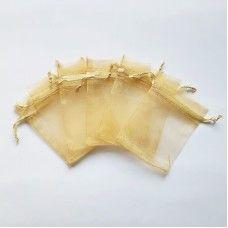 Мешочек из органзы золотой 7х9 см