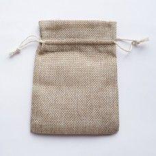 Подарочный мешочек из мешковины 10х14 см