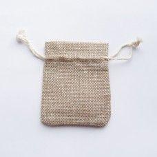 Подарочный мешочек из мешковины 7х9 см