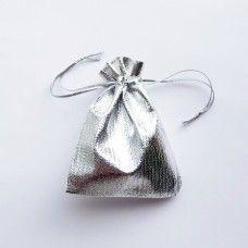 Серебряный подарочный мешочек