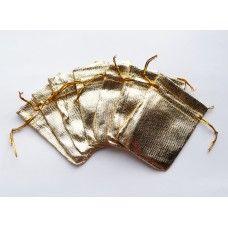 Золотой подарочный мешочек