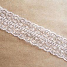 Белая кружевная лента 4,5 см