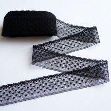 Кружевная лента 3 см черная