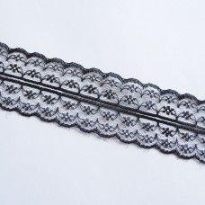 Черная кружевная лента 4,5 см