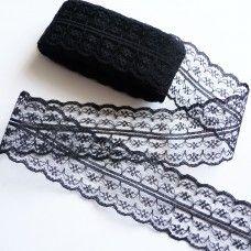 Кружевная лента 4,5 см черная