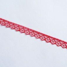 Кружевная лента 1,4 см красная