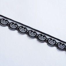 Кружевная лента черная 2,2 см