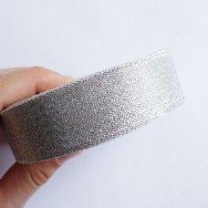 Лента органза серебро 2,5 см