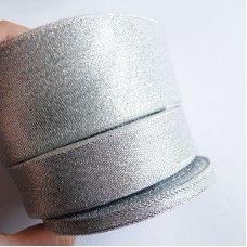 Лента органза серебро 5 см