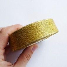 Лента органза золото 2,5 см