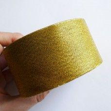 Лента органза золото 5 см