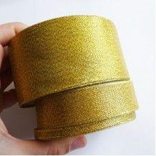 Лента органза золото 6 мм