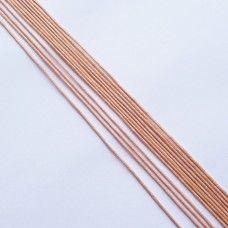 Вощеный шнур персиковый 1 мм